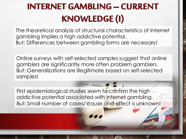 Unlawful internet gambling risk assessment gambling an addiction